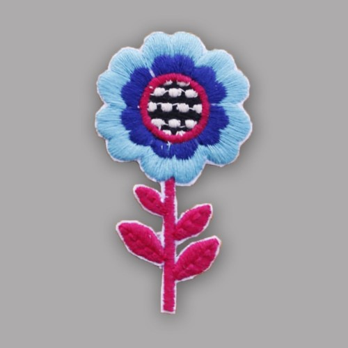 Cool Blue Flower Badge
