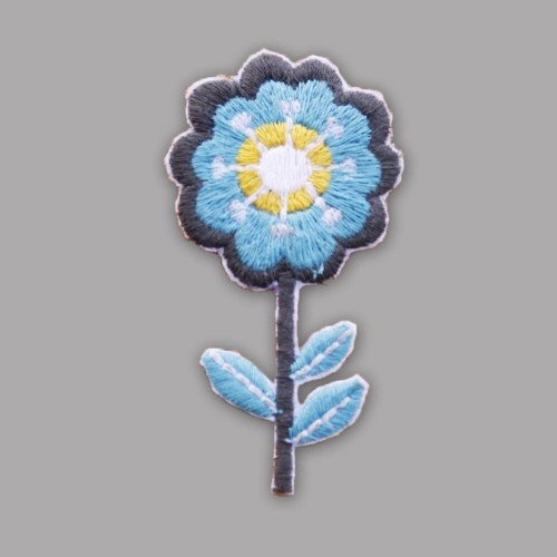 Soothing Turquoise Flower Badge
