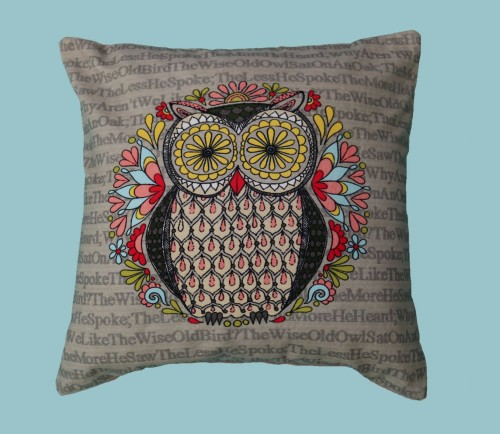 Wise Owl Cushion Cover