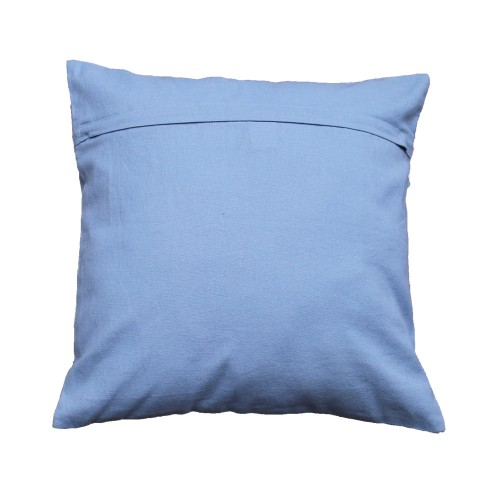 Denim blue sequin cushion cover