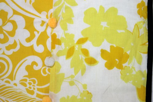 Sunshine Yellow Flowery Single Dohar