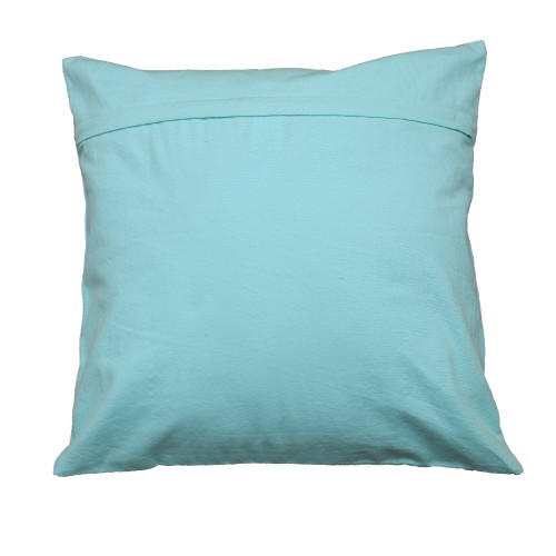 Turquoise  Sequined Cushion Cover